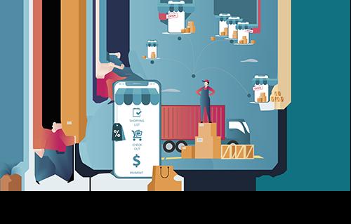 Wimmelbild E-Commerce